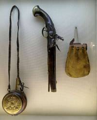 Gun, Flask and Bag c 1725