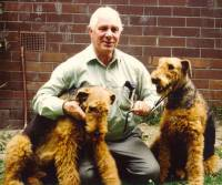 Alan with his last 2 Airedales