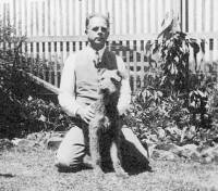 Wilfred Thomas with 'Trixie'