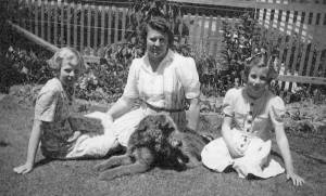 The Thomas Family with 'Trixie'