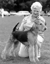 Jane with her Airedale