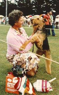 Jane with Airedale Terrier