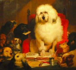 Painting of Standard Poodle 1840
