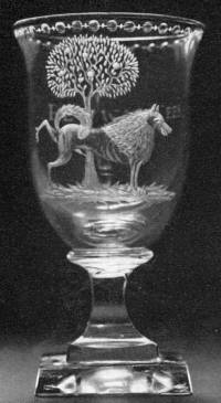 1780's goblet engraved with a Political Statement from the 'Dutch Patriot Party'.