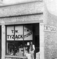 Mr Tyzack and his shop