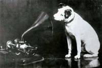 'Nipper' with wax cylinder phonograph