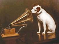 'His Masters Voice' with Gramophone