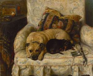 Manchester Terrier and Mastiff c 1890